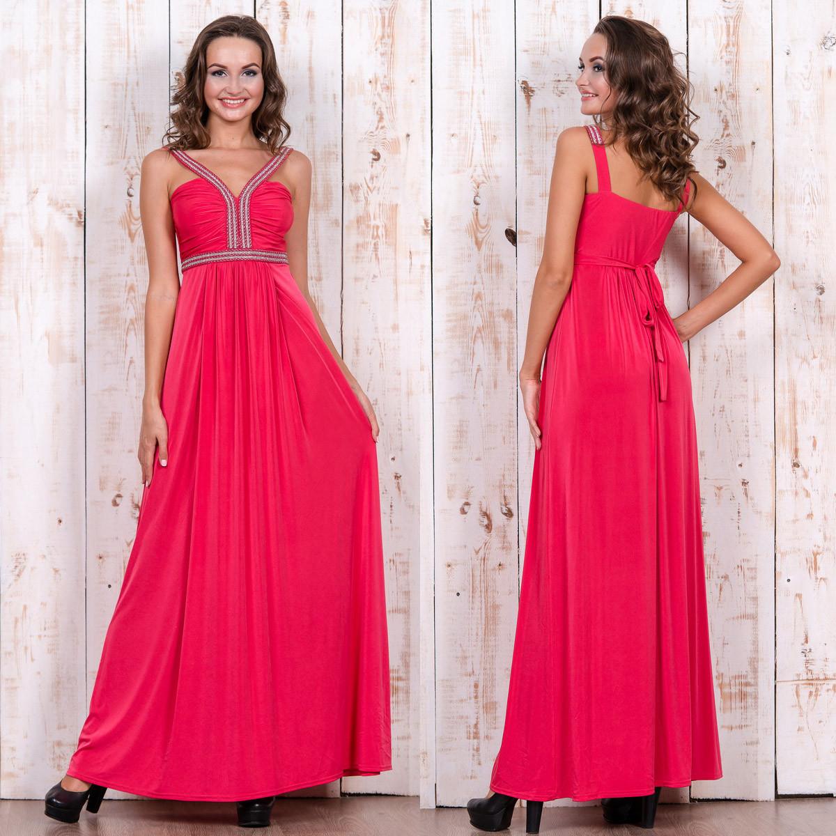 b1ce557d6dc Вечернее длинное платье коралловое на выпускной