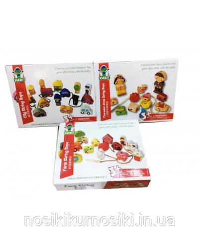 Деревянные игрушки Шнуровка человечки