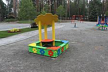 """Детская деревянная песочница """"Цветок"""", фото 3"""