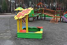 """Детская деревянная песочница """"Цветок"""", фото 2"""