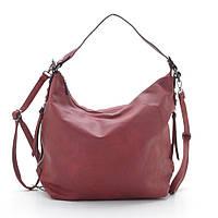 Женская сумка L. Pigeon мягкая с дополнительными ручками кожзам красная