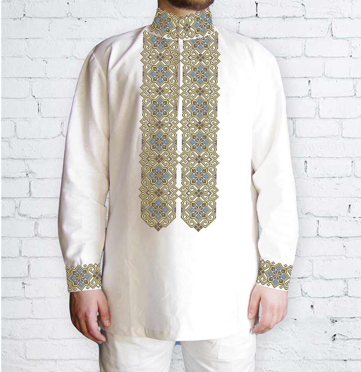 Заготовка чоловічої сорочки та вишиванки для вишивки чи вишивання бісером Бисерок «547 Пектораль» (Ч-547 )