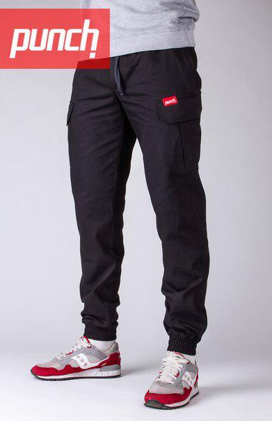 Карго штаны мужские черные Карго Раш (Cargo Rush) от бренда Punch размер XS, S, M, XL, XXL