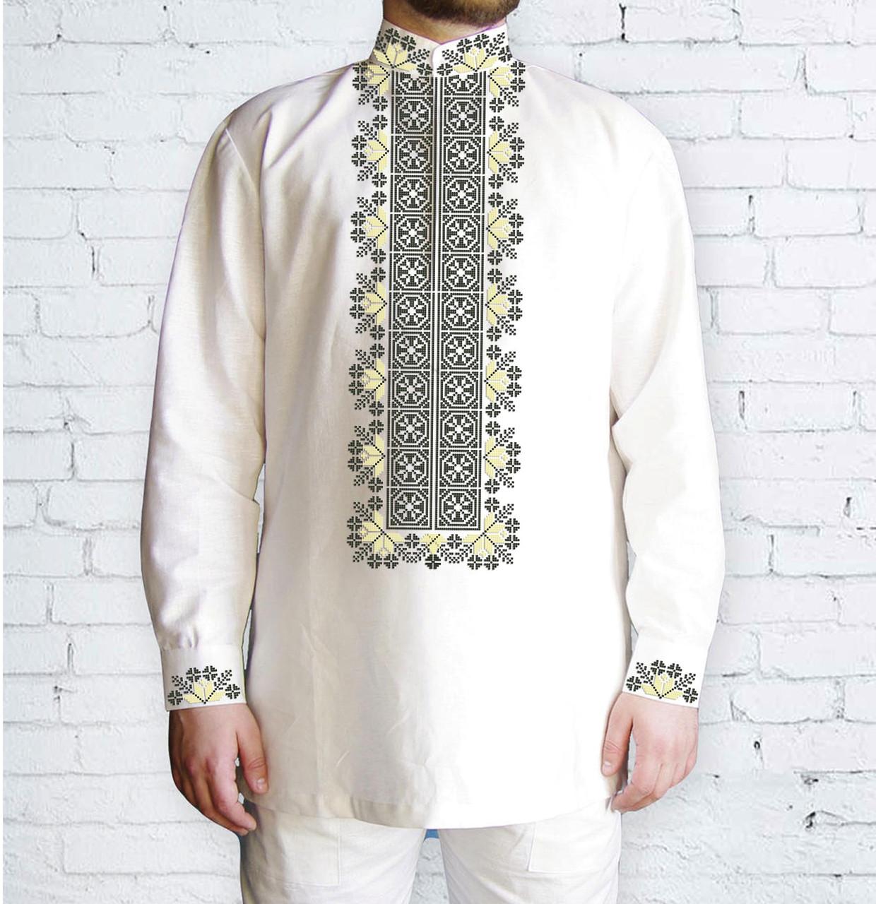 Заготовка чоловічої сорочки та вишиванки для вишивки чи вишивання бісером Бисерок «548 Дивоцвіт» (Ч-548 )