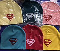 Шапки осенние с логотипом супермен
