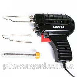 Паяльник импульсный 100 Вт, в наборе 3 пр. LICOTA (AET-6201K1D)