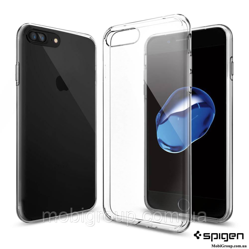 Чехол Spigen для iPhone 7Plus Liquid Crystal, Crystal Clear, фото 1