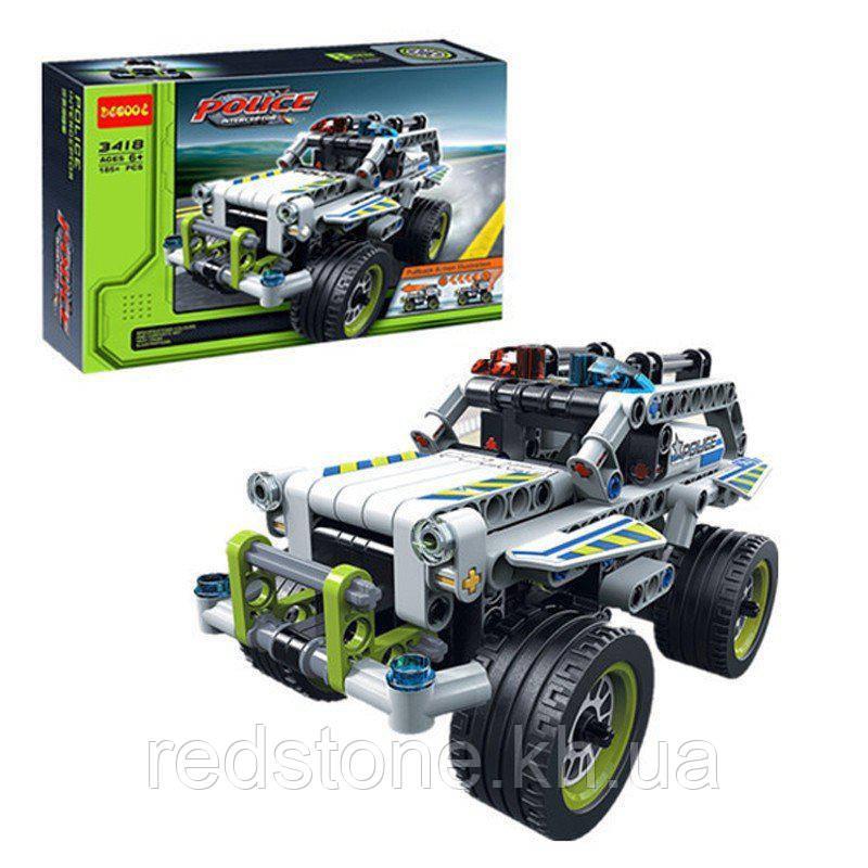 """Конструктор Decool 3418 (Lego Technik 42047) """"Полицейский патруль"""", 185 дет."""