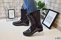 39-й!!!  Резиновые сапожки черные удобные, мягкие, женская обувь для непогоды