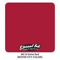 Краска для татуировочных работ Eternal ink. Motor City. Vette Red 1/2 oz, фото 1