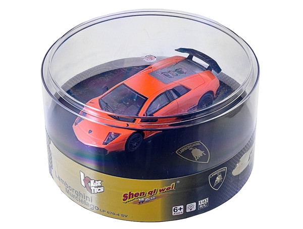 Машинка микро р/у 1:43 лиценз. Lamborghini LP670 (оранжевый)