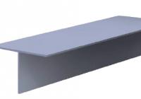Профиль т алюминиевый направляющий 80х50х2.1