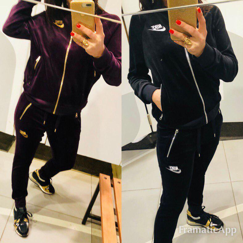 80c03662b8e1 Женский Спортивный Костюм Nike Велюр — в Категории