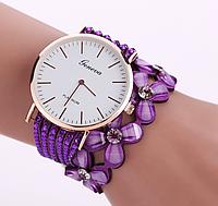 Наручные женские часы c фиолетовым ремешком код 270