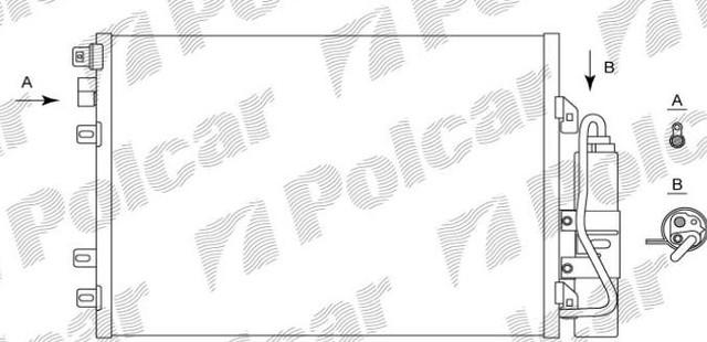 Радиатор кондиционера 6061K81X(TSP0225620) Рено Кенго