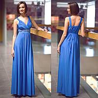 """Платье вечернее длинное голубое """"Афина"""""""