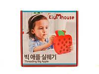 Деревянные игрушки шнуровка для малышей яблоко MD 1160