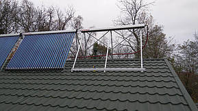 Монтаж солнечных коллекторов для нагрева бассейна объемом 16м3, а также как дополнительного источника энергии для догрева системы теплых полов... 16