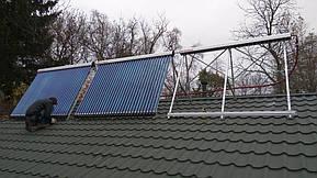 Монтаж солнечных коллекторов для нагрева бассейна объемом 16м3, а также как дополнительного источника энергии для догрева системы теплых полов... 17