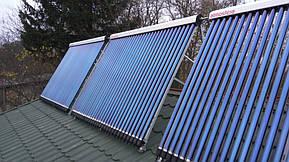 Монтаж солнечных коллекторов для нагрева бассейна объемом 16м3, а также как дополнительного источника энергии для догрева системы теплых полов... 18