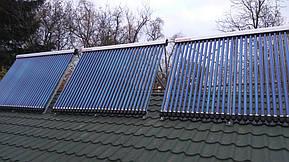 Монтаж солнечных коллекторов для нагрева бассейна объемом 16м3, а также как дополнительного источника энергии для догрева системы теплых полов... 19