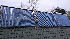 Монтаж солнечных коллекторов для нагрева бассейна объемом 16м3, а также как дополнительного источника энергии для догрева системы теплых полов... 20
