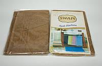Коврик для ног Swan Light Brown хлопковый 50*70 см