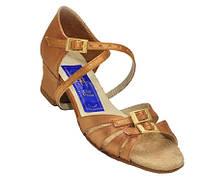 Туфли для танцев детские, для девочек (бежевый сатин)