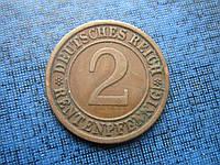 Монета 2 пфеннига Германия 1924 J