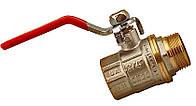 Кран шаровой латунный муфтовый СТС, ВН, Ду 32
