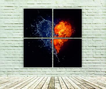 """Модульна картина"""" Стихії води та вогню"""""""