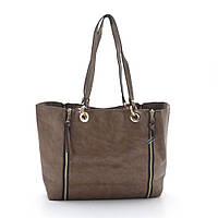 Женская сумка 2в1 Baliford с косметичкой кожзам мягкая коричневая
