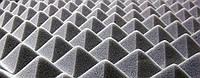 Акустический поролон серый «пирамида» лист 1х2м толщина 50мм