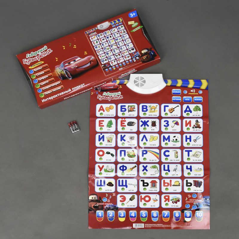 Плакат букваренок Тачки Play Smart русский язык
