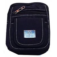 Мужские текстильные барсетки(черный)14*10см