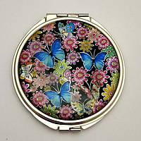 Косметическое зеркальце «Две бабочки»