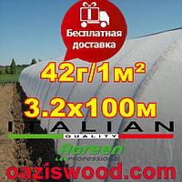 Агроволокно р-42g 3,2*100м AGREEN 4сезона белое Итальянское качество, фото 1