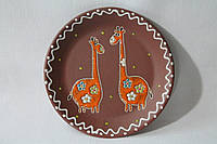 """Блюдце керамическое под чашку """"Жирафы"""""""
