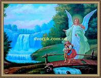 Образ Ангел хранитель 200х240мм №122 в багетной рамке