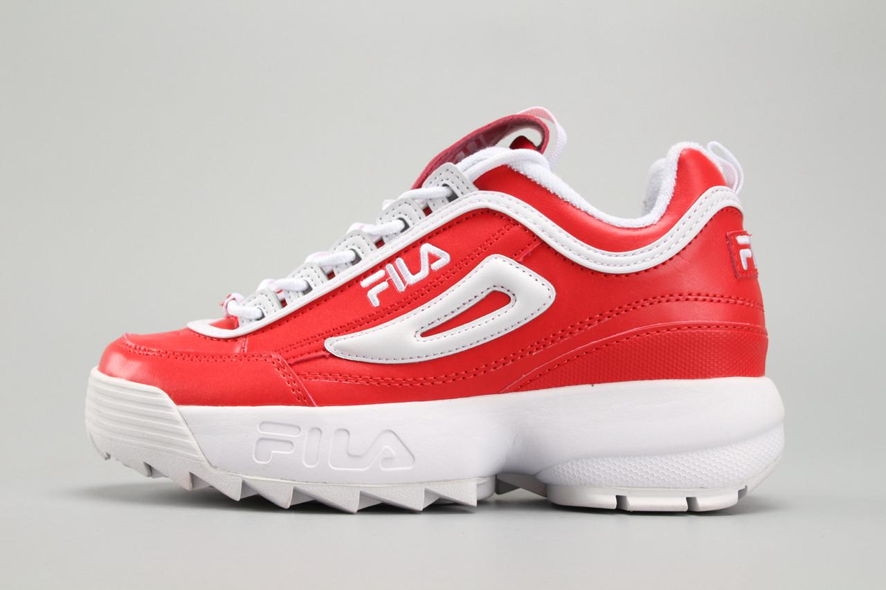fc043dd925e5 Женские кроссовки Fila Disruptor II Leather Red White - Компания