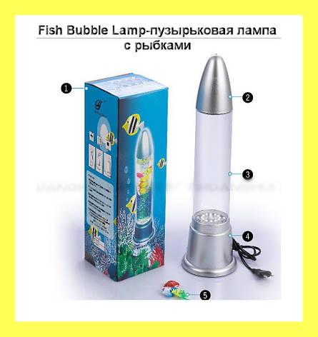Fish Bubble Lamp-пузырьковая лампа с рыбками, фото 2
