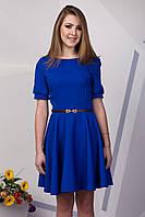 Красивое платье солнце клеш цвета электрик