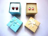 Сережки для девочки Клубнички в подарочной коробочке
