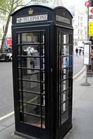 Черная телефонная будка из мдф