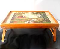 """Бамбуковый столик раскладной """"У ручья"""" для завтрака в постель, фото 1"""