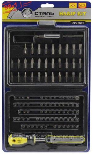 Отвертка со сменными насадками Сталь 98 в 1 (арт. 49054) в интернет-магазине