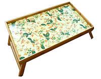 """Бамбуковый столик раскладной """"Цветочек"""" для завтрака в постель"""