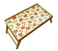 """Бамбуковый столик раскладной """"Клен"""" для завтрака в постель"""