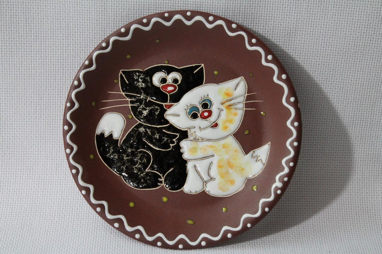 """Блюдце керамическое под чашку """"Котята"""""""