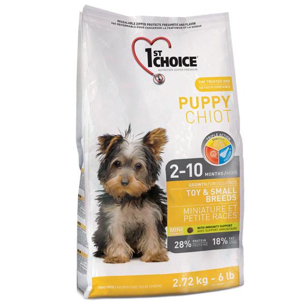 1st Choice Toy&Small Puppy Chicken Фест Чойсс курицей, супер премиум корм для щенков мини и малых пород.